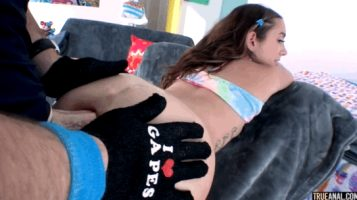 Cute teen Bailey Base gaped wide by Mike Adriano