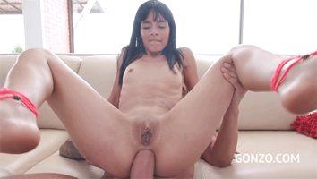 Latina enjoying anal sex