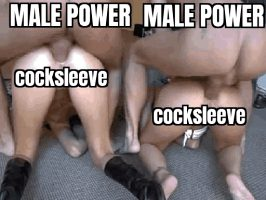 Male power over cocksleeves