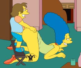 Marge Simpson getting ass fucked by Nelson again