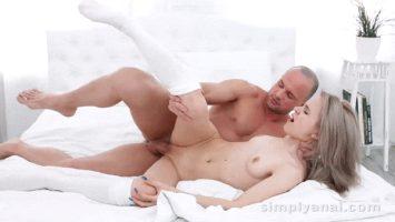 Naughty Russian blonde Herda Wisky gets her ass fucked hard
