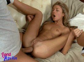 perfect babe with beautiful body, small tits, shaved pussy & butt nice fucking in ass