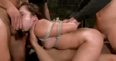 Remy lacroix gets all her holes stuffed in hard gangbang