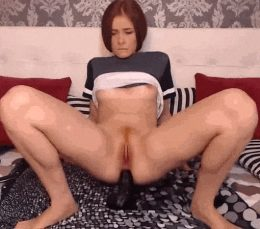 Riding it up her butt