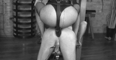 Strapon fucked from a Femdom in charge